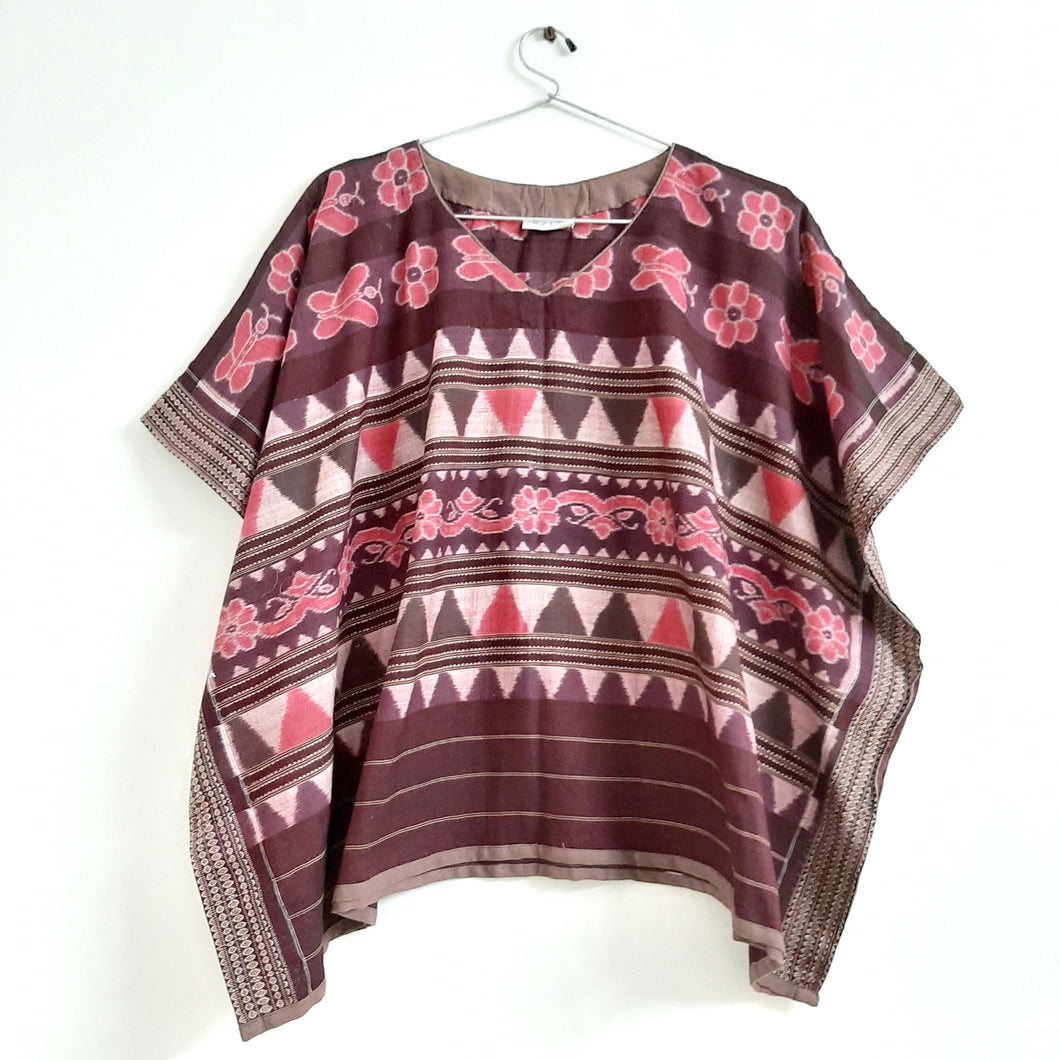 Butterfly Ikat Poncho