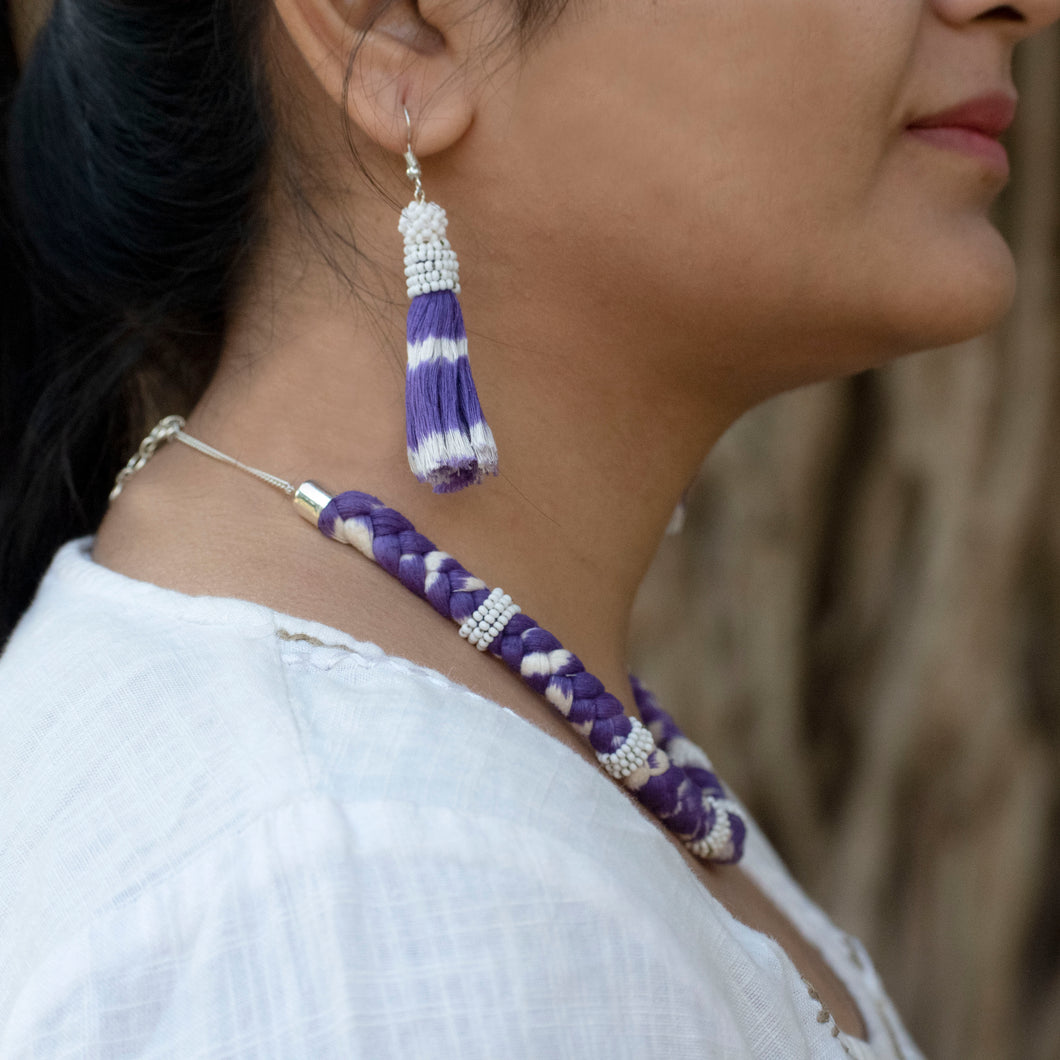 Maharani Ikat set-Purple