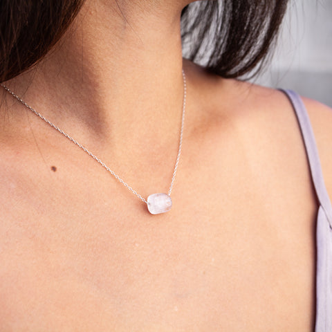 Rainbow Moonstone Intention Necklace - Intuition