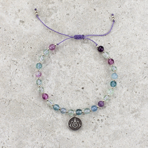 Rainbow Fluorite Meditation Bracelet - Self Actualized
