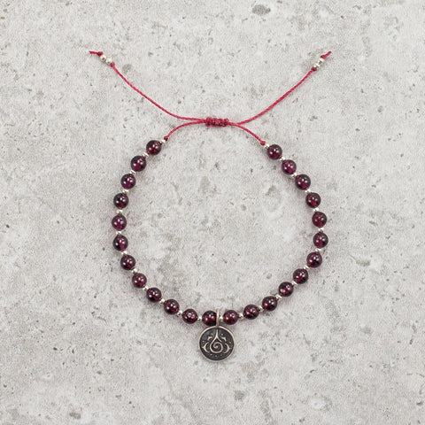 Garnet Gemstone Bracelet - Creative Energy
