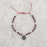 Garnet & Pearl Gemstone Bracelet - Limited Edition