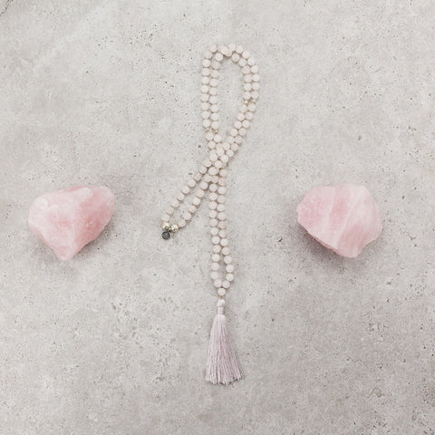 Rose Quartz  Mala - Love