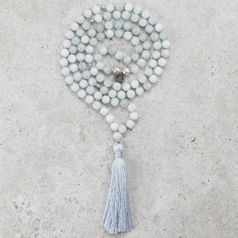 Tree Agate Mala - Balanced & Connected