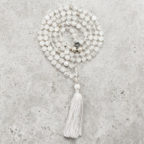 Quartz Crystal Mala - Clarity & Wisdom