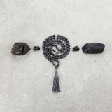 Snowflake Obsidian Mala - Protected & Restored