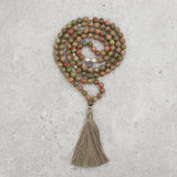 Unakite Jasper Mala - Gentle & Hopeful