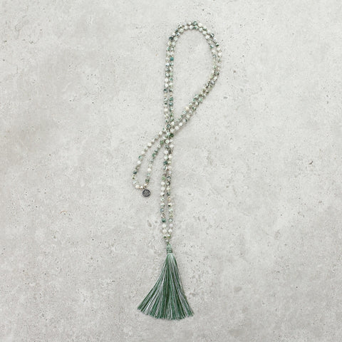 Tree Agate Mala (Delicate) - Balanced & Connected