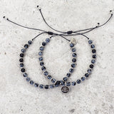 Snowflake Obsidian Mala Bracelet - Protected & Restored