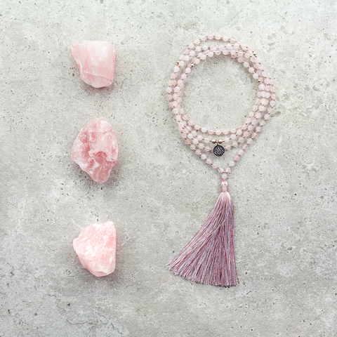Rose Quartz Mala (Delicate) - Love