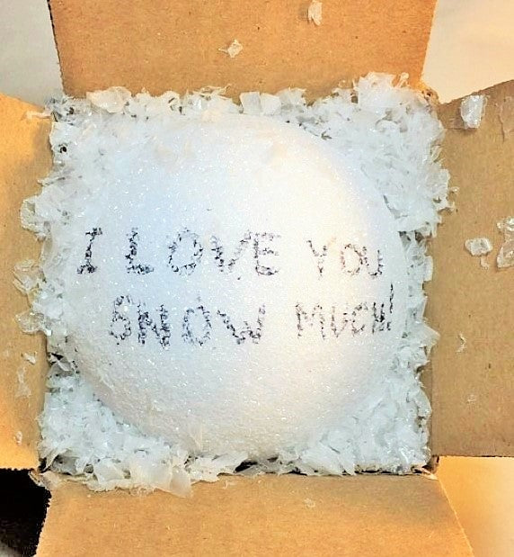 Customized snow ball mailed? You may asked how can you mail snow? How? Just how? Well let us take care of that for you and suprise them with a gift that will leave them speechless