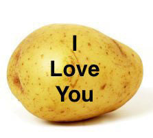 Mail a potato baby with a personalized potato message!