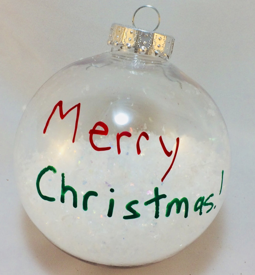 Custom Christmas Snow Ornament