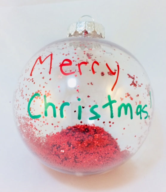 Custom Christmas Glitter Ornament