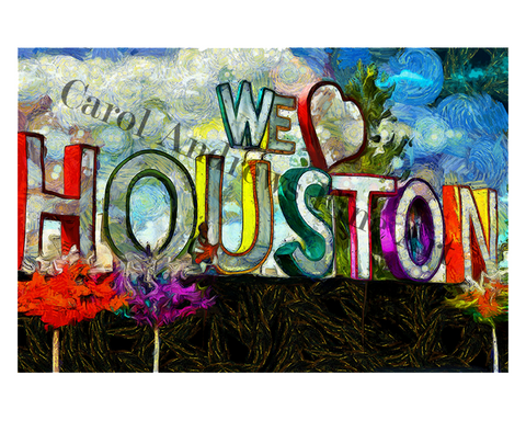 We Love Houston Print