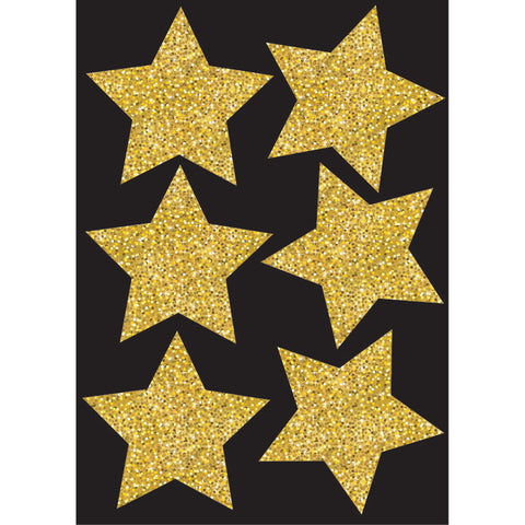 DIE CUT MAGNETS 4IN GOLD SPARKLE