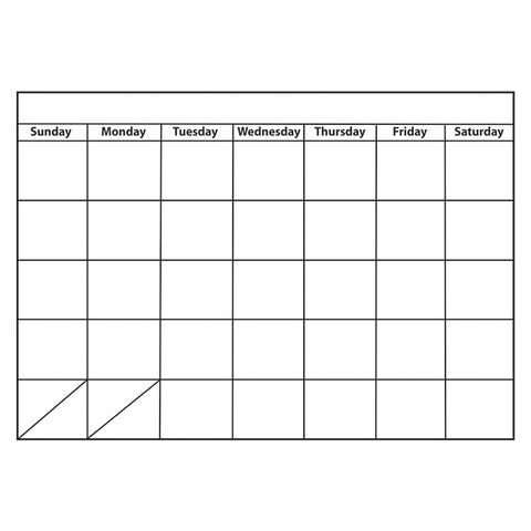 BIG MONTHLY CALENDAR LARGE MAGNETIC