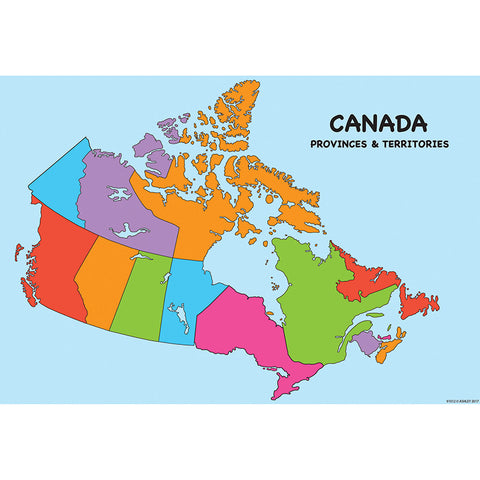 10 PK SMART POLY CANADA MAP CHARTS