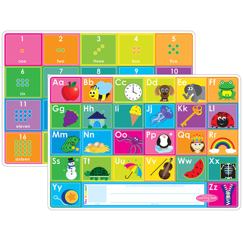 10PK ABC & NUMBERS 1-20 LEARN MAT