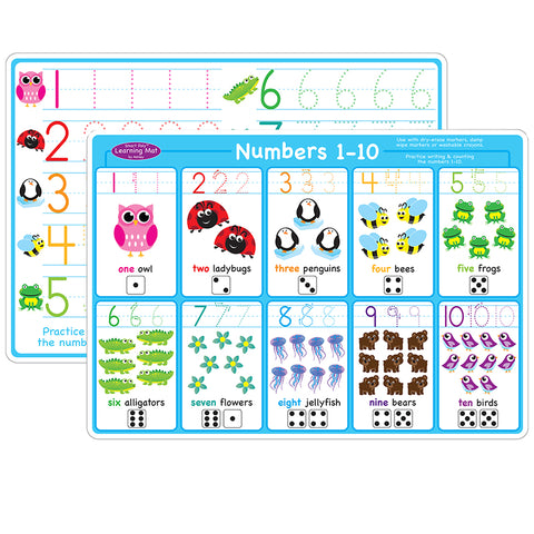10PK NUMBERS 1-10 LEARNING MAT