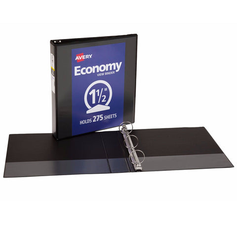 1 1/2IN CAPACITY BLACK VIEW BINDER