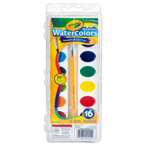 CRAYOLA WASHABLE WATERCOLOR SET 16
