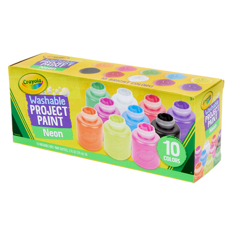 10 CT  2OZ NEON PAINT SET