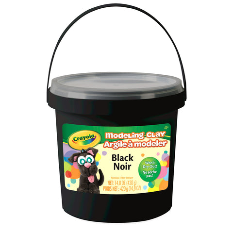 1 LB BUCKET MODELING CLAY BLACK