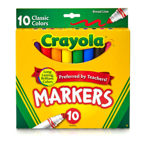 CRAYOLA BROAD LINE MARKERS 10CT
