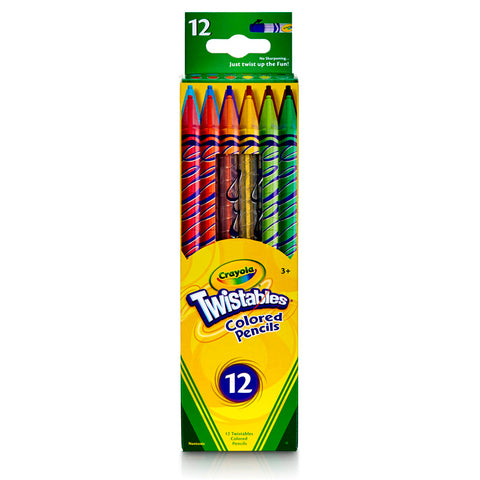 CRAYOLA TWISTABLES 12 CT COLORED