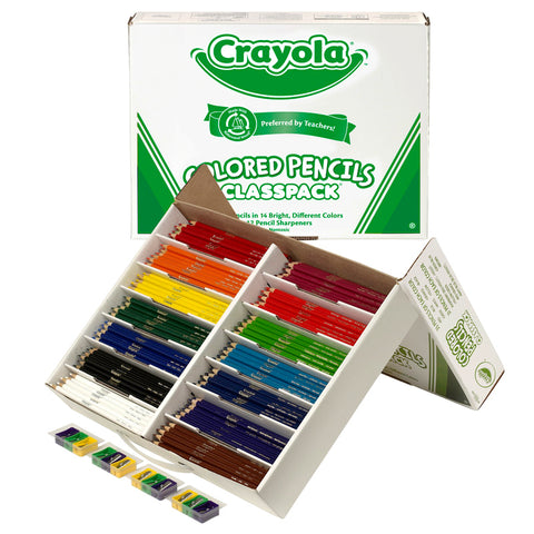 CRAYOLA COLORED PENCILS 462 CT