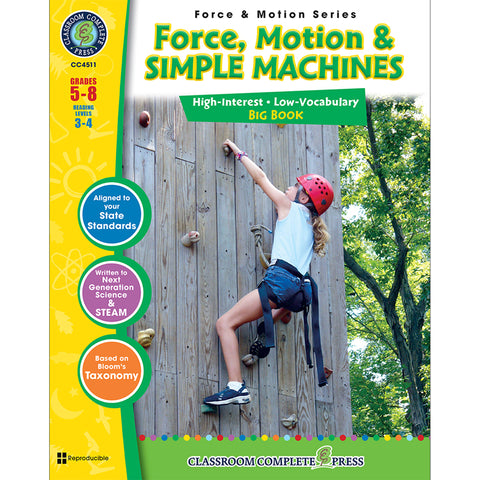 FORCE MOTION & SIMPLE MACHINES BIG