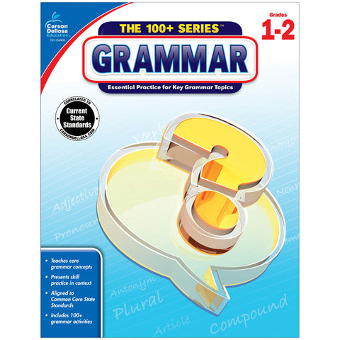 100 PLUS GRAMMAR WORKBOOK GR 1-2