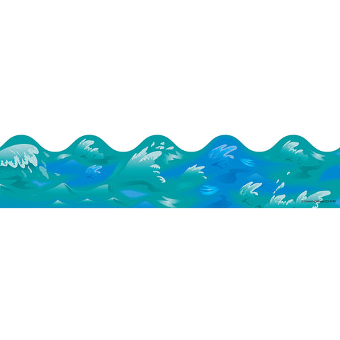 BORDER OCEAN WAVES SCALLOPED