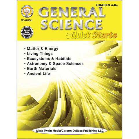 GENERAL SCIENCE QUICK STARTS WORKBK