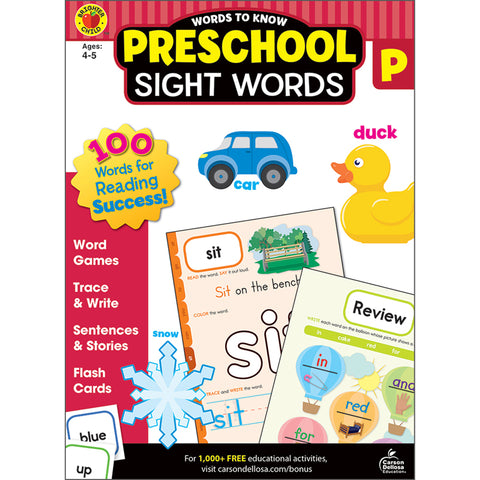 WORDS TO KNOW SIGHT WORDS GR PREK