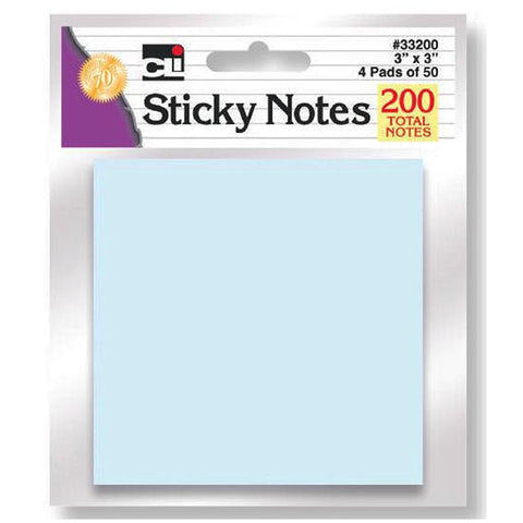 STICKY NOTES ASSORTED PASTEL 4 PADS