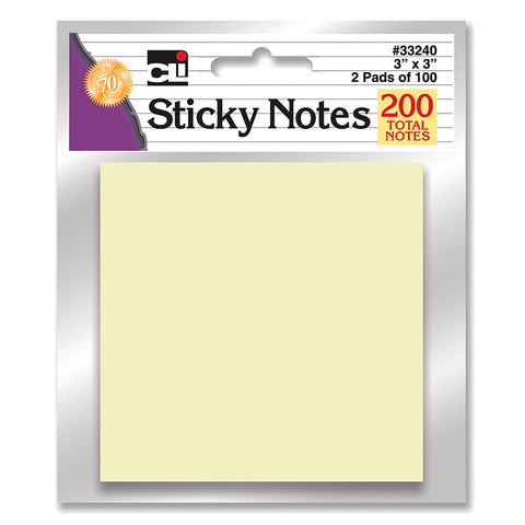 STICKY NOTES YELLOW 2 PADS