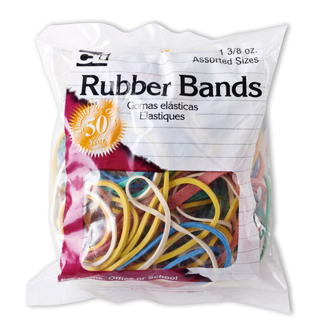 RUBBER BANDS ASST COLORS 1 3/8 OZ