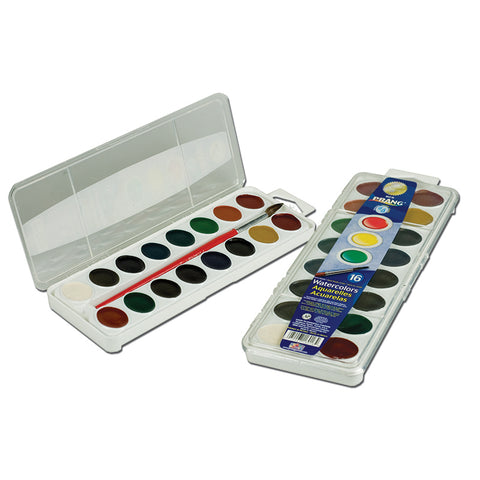 16 WASHABLE WATER COLOR SET W/BRUSH