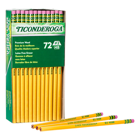 PENCILS UNSHARPENED BOX OF 72