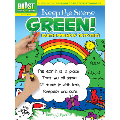 BOOST KEEP THE SCENE GREEN COLORING