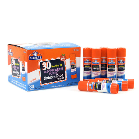 ELMERS 30PK SCHOOL PURPLE GLUE