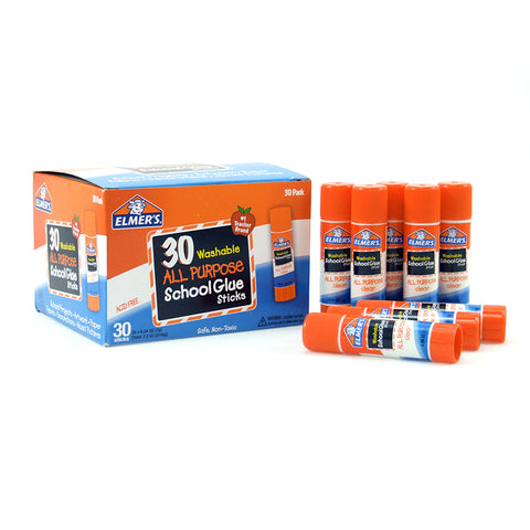 ELMERS 30PK SCHOOL GLUE STICKS ALL