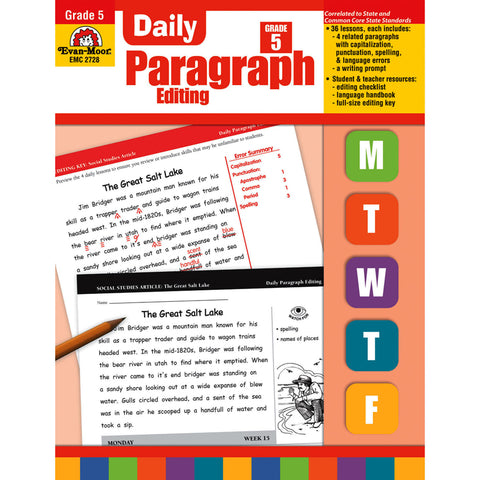 DAILY PARAGRAPH EDITING GR 5