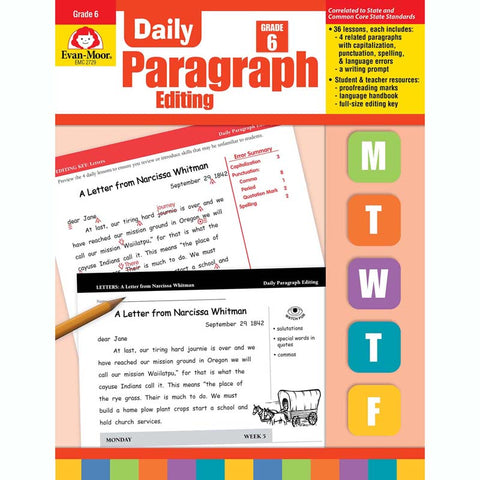DAILY PARAGRAPH EDITING GR 6