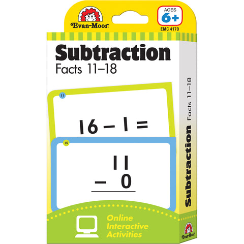 FLASHCARD SET SUBTRACTION FACTS 11