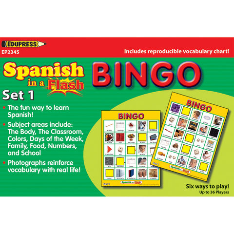 SPANISH IN A FLASH BINGO SET 1