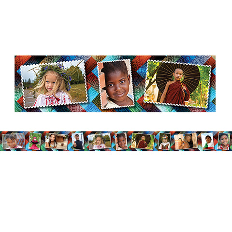 MULTICULTURAL KIDS POSTCARDS PHOTO