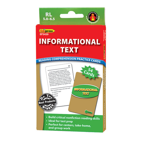 INFORMATIONAL TEXT GRN LVL READING